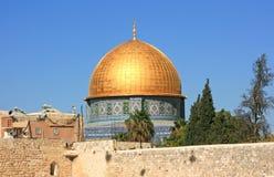 Dôme de la roche dans la vieille ville de Jérusalem photographie stock libre de droits