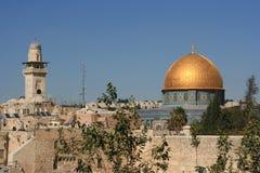 Dôme de la roche dans la vieille ville de Jérusalem image stock