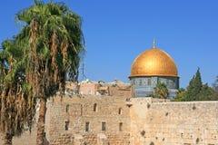 Dôme de la roche dans la vieille ville de Jérusalem image libre de droits