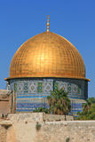 Dôme de la roche dans la vieille ville de Jérusalem images libres de droits