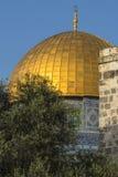 Dôme de la roche dans la vieille ville de Jérusalem images stock