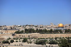Dôme de la roche et de l'Al-Aqsa, Jérusalem Photo libre de droits
