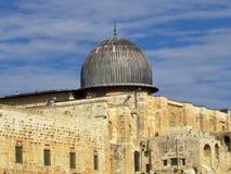 Dôme 2012 de mosquée de Jérusalem Al-Aqsa Photos stock