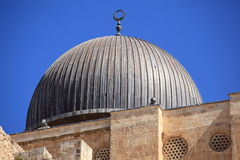 Dôme de mosquée d'Al-Aqsa à Jérusalem, Israël Photos stock