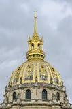 Dôme de Musée de l'Armée, Les Invalides, Paris, France Images libres de droits