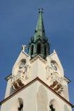 Dôme de notre église catholique de Madame Protectress dans Stryi, Ukraine Images libres de droits