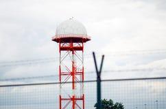 Dôme de radar d'aéroport Images libres de droits