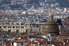 Dôme de Sainte-Reparate et Nice Photographie stock libre de droits