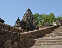 Dôme de temple au fort de Maheshwar Images stock