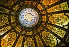 Dôme de Tiffany au centre culturel Photos stock