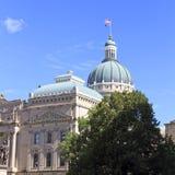 Dôme du bâtiment de capitol de l'Indiana Photographie stock libre de droits