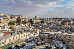 Dôme la de la roche dans la vieille ville de Jérusalem Photos libres de droits