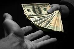 Dê-me o dinheiro Imagens de Stock