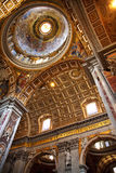 Dôme Rome Italie de plafond de Vatican Image libre de droits