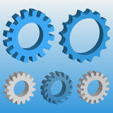 3D Mechanical gear. Royalty Free Stock Photos