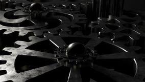 3D Mechanisch systeem van toestellen tijdens verrichting met alpha- 4K stock footage
