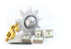 3d Mechanism of Business Stock Photography