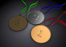 3d medals Stock Photography