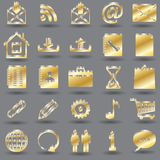 3d media icons Stock Image