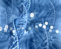 3D Medical background with DNA strands. Abstract 3D medical background DNA strands Royalty Free Stock Photo