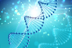 3D medical background with DNA strands Royalty Free Stock Photography