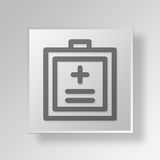 3D medical badge Button Icon Concept Stock Images