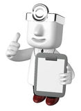 3d medical doctor man with his chart. 3D Square Man Series. Stock Images