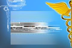3d medyczny logo Zdjęcia Stock