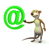 3d Meerkat email Stock Photo