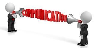 3D megaphone, communication, conversation concept. 3D businessmen talking to each other with megaphones - great for topics like communication, conversation etc Stock Images