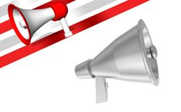 3d megaphone. 3d rendering ,side angle view Stock Photo