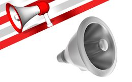 3d megaphone. 3d rendering ,sideangle view Stock Photos