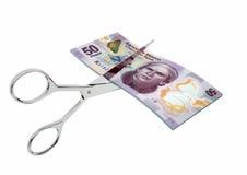 3D meksykańska waluta z parami nożyce Obraz Stock