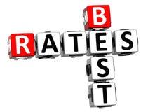 3D melhor avalia hoje palavras cruzadas Imagem de Stock Royalty Free