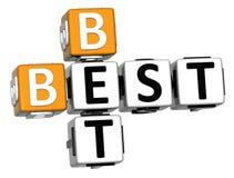 3D melhor Bet Crossword Fotos de Stock