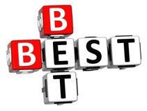 3D melhor Bet Crossword Imagens de Stock