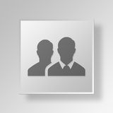 3D men Button Icon Concept Stock Images