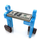 3d men carry money Stock Images