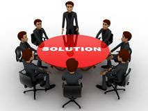 3d men doing meeting to find solution of problem concept Royalty Free Stock Photography