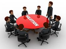 3d men doing meeting to find solution of problem concept Stock Images