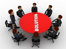 3d men doing meeting to find solution of problem concept Royalty Free Stock Image