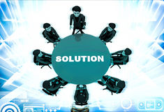3d men doing meeting to find solution of problem illustration Royalty Free Stock Photo