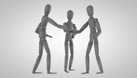 3d men doll character of the pieces Stock Photo