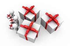 3d men gifts concept Stock Photos