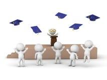 3D men at graduation Stock Photos