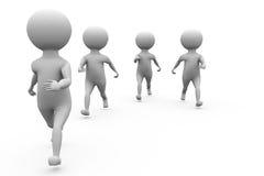 3d men jogging concept Royalty Free Stock Photo