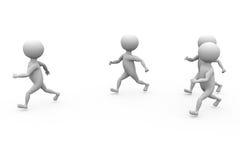 3d men jogging concept Stock Photo