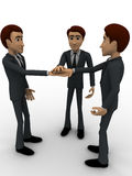 3d men making commitment concept Royalty Free Stock Image