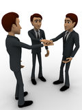 3d men making commitment concept Royalty Free Stock Photo