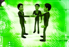 3d men making commitment illustration Stock Photography